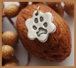 Silver Pet Pawprint Charms