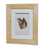 Single Hand Cast - Gold finish - Natural Wax Frame