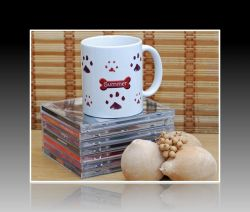 Pet Print Mug:  Doggie Prints  (side two)
