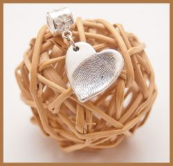 Silver Fingerprint Charms